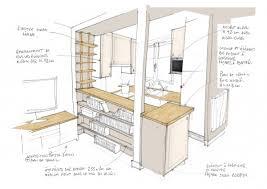 plans de cuisines ouvertes cuisine ouverte plan rayonnage cantilever