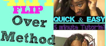 flip over method how to do a full sew in with invisible part using flip over method
