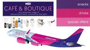 wizz air café boutique onboard services updated