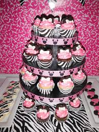zebra minnie mouse baby shower party ideas photo 9 of 9 catch