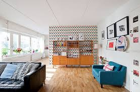 living room modern retro living room with a bright and
