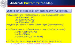 Google Maps Radius Programming With Android Geo Localization And Google Map Services