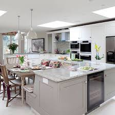 kitchens with island benches pale grey kitchen with island unit gray kitchens decorating and