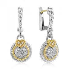 judith ripka earrings judith ripka sterling silver 18 karat gold small diamond pave