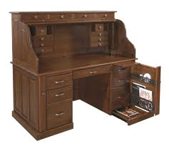 Secretary Desk With Drawers by Professors Walnut Roll Top Desk Countryside Amish Furniture