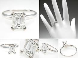 buy used engagement rings emerald cut engagement rings bestbride101