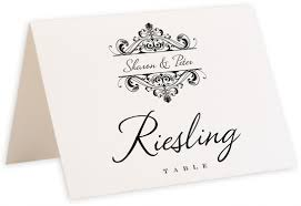 Table Name Cards by Merlin U0027s Monkey Vintage Monogram And Flourish Wedding Table Name