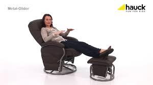 Gliding Chair Hauck Reclining Metal Glider Chair Youtube
