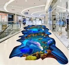 aliexpress com buy european blue ocean waterproof floor mural