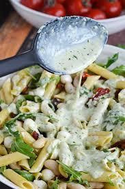 pasta salad with mayo creamy pesto pasta salad host the toast