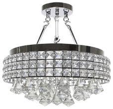 4 Light Semi Flush Ceiling Fixture by 4 Light Crystal Semi Flush Mount Contemporary Flush Mount