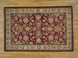 6 u0027 x 9 u0027 burgundy pure wool handmade rajasthan thick and plush