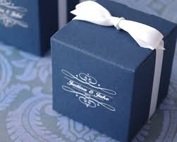 personalized wedding favor boxes monogram basic cube favor box