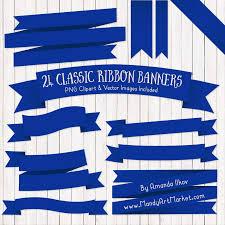 royal blue ribbon blue ribbon banner clipart