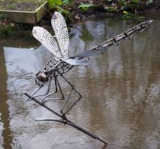 dragonfly garden sculpture pinteres