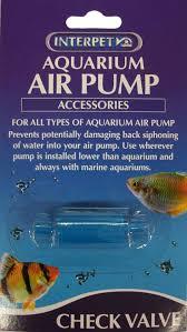 types of aquarium interpet air pump check valve