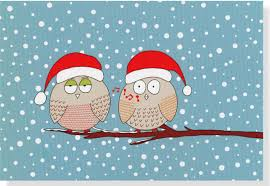 chrismas cards whistling owls small boxed cards christmas cards