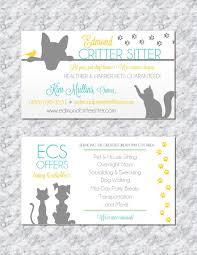 modern pet sitting business cards by trusner designs visit us on