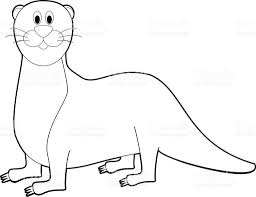 easy coloring animals for kids otter stock vector art 519272994