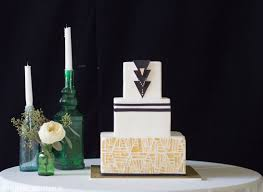 bohemian art deco cake