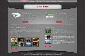 grey css free dark grey black css html website template