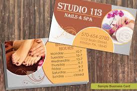 Business Card Design Pricing Price List Design For Nail Salon In Hockessin Delaware Graphic