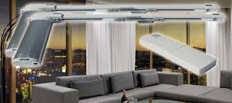 Commercial Curtain Track Motorized Electric Curtain Track System Automation Mega Center