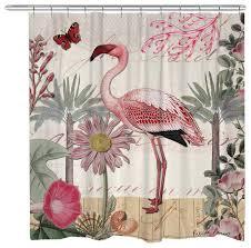 Flamingo Shower Curtains Flamingo Shower Curtain Curtains Ideas