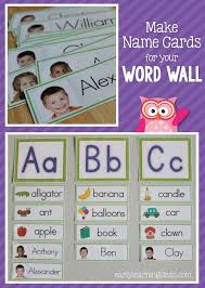 name cards make name cards for your word wall classroom word