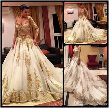 wedding dress discount discount gorgeous golden lace muslim wedding dress 2016 v