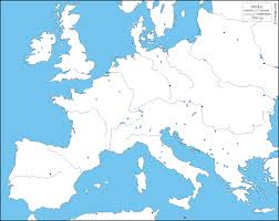 map western europe cities western and central europe free map free blank map free outline