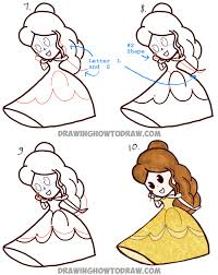 how to draw thanksgiving how to draw cute baby chibi belle from beauty and the beast easy