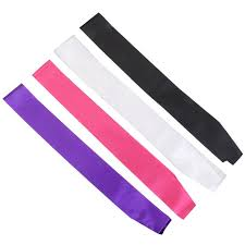 blank sashes online shop solid blank etiquette belt sash single layer satin