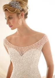 wedding dresses ivory morilee bridal elaborate allover beading design on net wedding