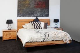 contemporary milan marri timber floating bed bespoke furniture
