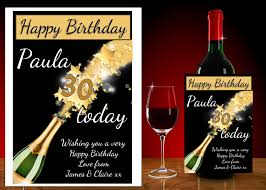 birthday drink wine personalised champagne starburst happy birthday wine champagne