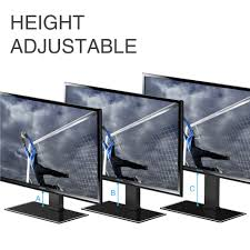Monitor Pedestal Stand Universal Tv Stand With Swivel Mount Pedestal Base Wall Mount For