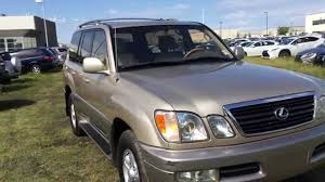 lexus suv 2003 pre owned 2000 gold lexus lx 470 suv walk around review