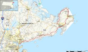 Massachusetts State Map by Massachusetts Route 127 Wikipedia