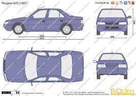 peugeot 405 the blueprints com vector drawing peugeot 405