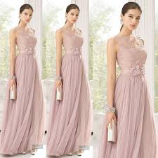 of honor dresses cheap bridesmaid dresses blush color tulle lace made flowers