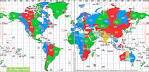 Standard time zone chart of the World from World Time Zone ...