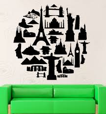 wall decals travel color the walls of your house wall decals travel wall stickers travel agency tourist attraction europe asia