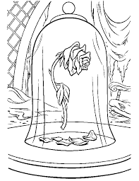 disney coloring pages beauty beast rose coloring
