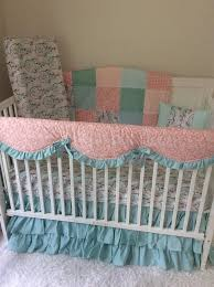 baby baby bedding crib set in coral mint teal peach