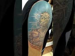 tattoo iron maiden eddie youtube