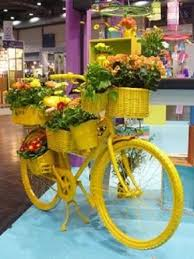 645 best bicycle art images on pinterest basket of flowers