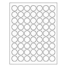 1 Inch Circle Template by 6 Sheets 378 1 Inch Circle White Stickers