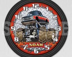 monster wall clock etsy