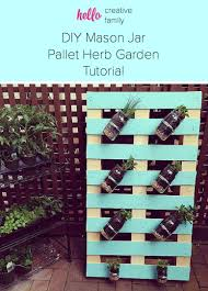 diy pallet mason jar herb garden tutorial hello creative family